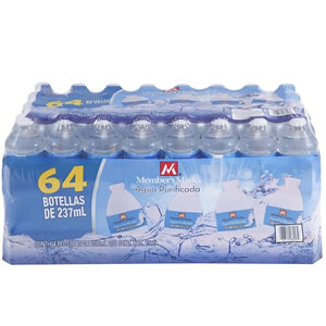 AGUA MEMBERS MARK  237ml - PAQUETE CON 64